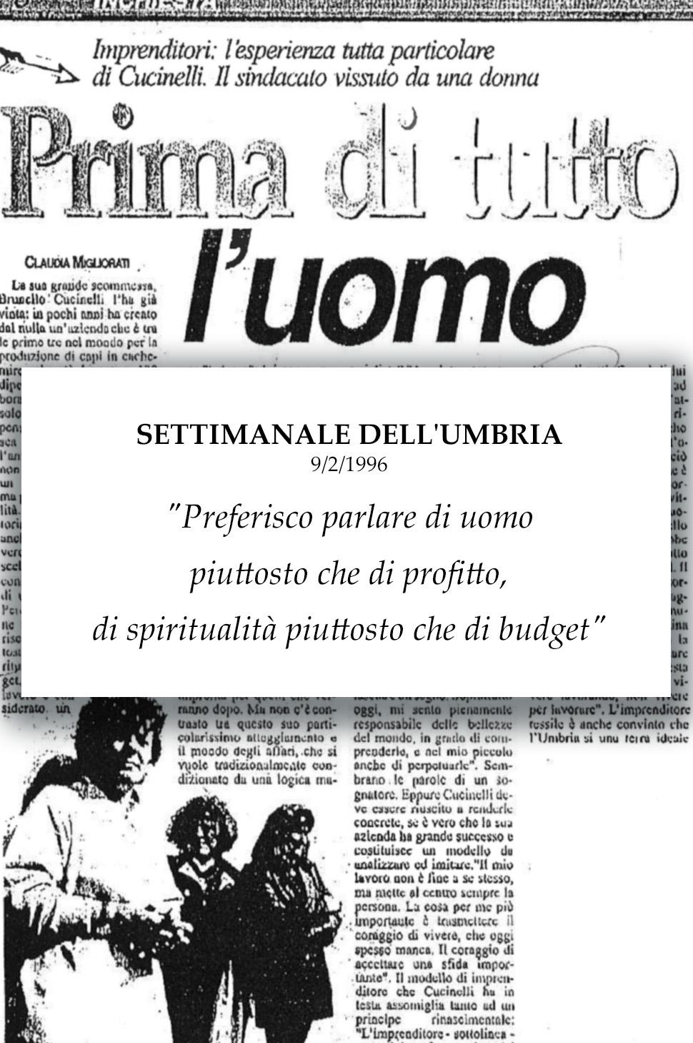 1996 Settimanale dell'Umbria