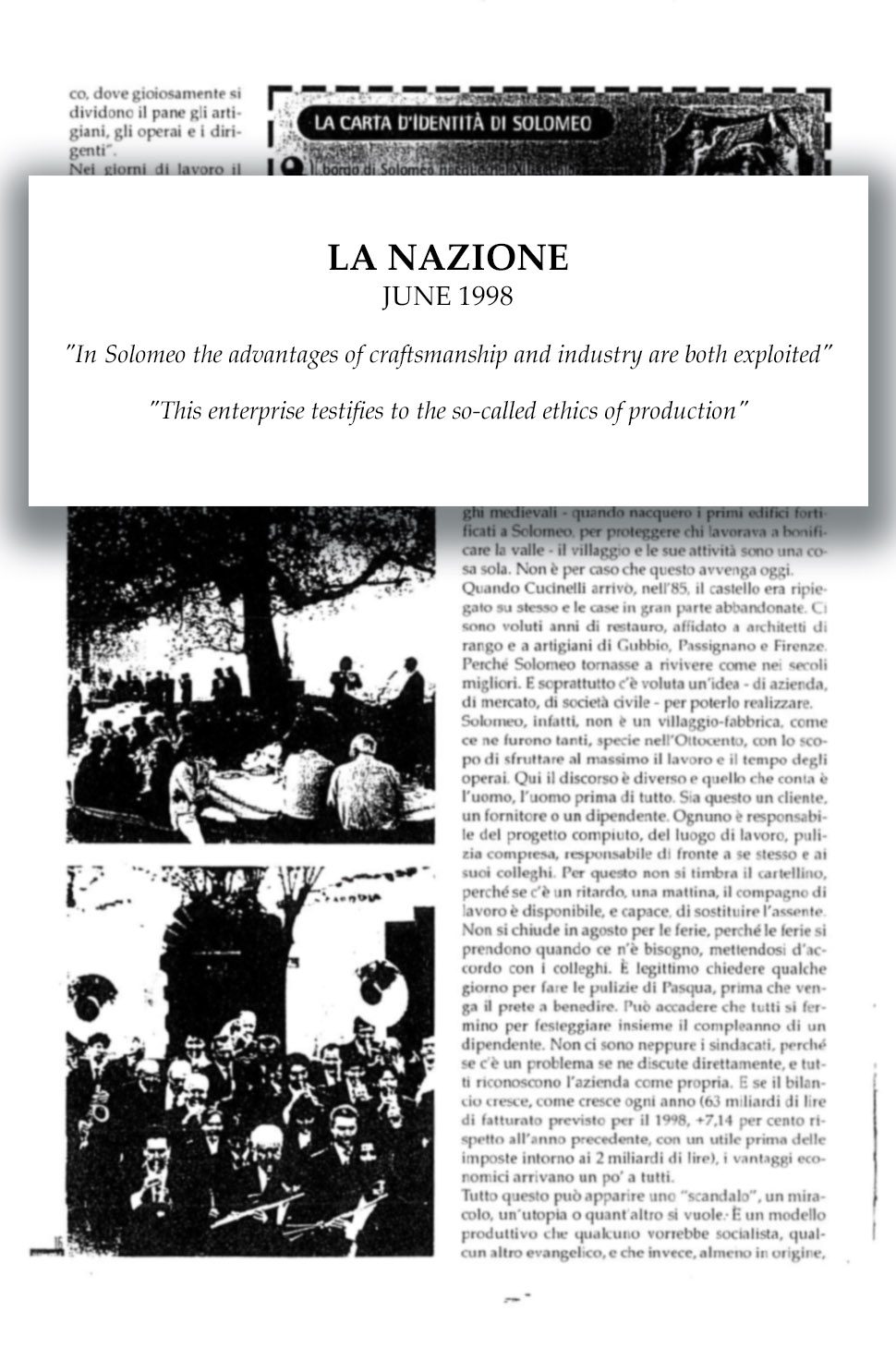 1998 La Nazione