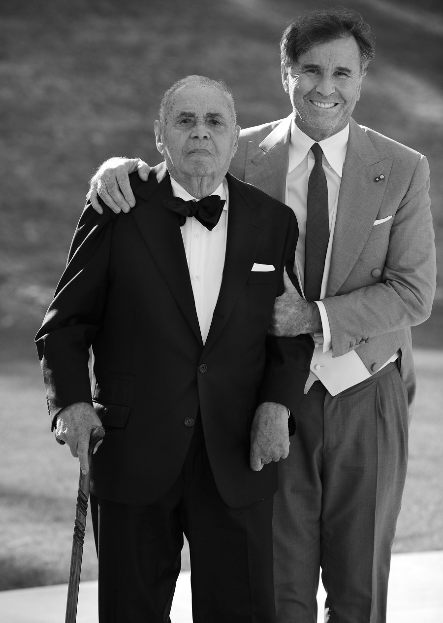Brunello con il padre