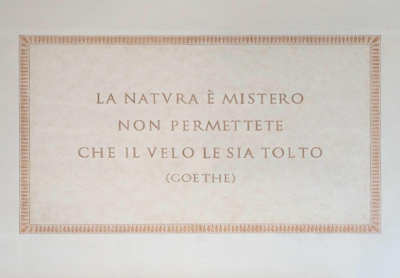 Solomeo, Targa Goethe
